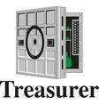 metal bank safe icon vector image vector image