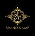 modern and golden sm initial logo creative concep vector image vector image