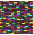 modern seamless colorful brick wall vector image