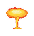 nuclear explosion pixel art large red explosive vector image