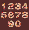 number floral warm autumn decorative elements vector image vector image