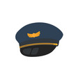 pilot hat flat design style isolated on vector image