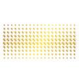 prenatal gold halftone array vector image