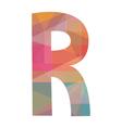R alphabet2 vector image