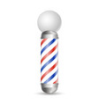realistic barber pole glass barber shop poles vector image vector image