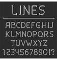 Retro Line Alphabet and Numbers vector image vector image