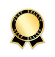 ribbon award best seller gold ribbon award icon vector image vector image