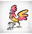 Rooster chinese new year design graphic vector image vector image