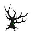 scary tree icon isometric style vector image vector image