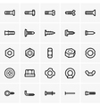 Screws and nuts icons vector image vector image