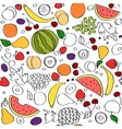 Seamless doodle cartoon pattern of summer vector image vector image