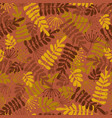 seamless seasonal pattern autumn leaves vector image vector image