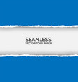 seamless torn paper on white background vector image vector image