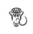 skull cobra snake vector image