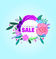 summer sale banners decorate with flowers vector image vector image