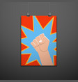 symbol clenched fist hand vector image