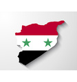Syria flag map with shadow effect vector image