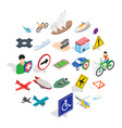transfer icons set isometric style vector image vector image