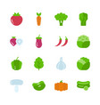 vegetable icon set vector image vector image