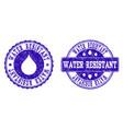 water resistant grunge stamp seals vector image vector image