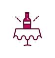 wine bottle on table celebration drink beverage vector image vector image