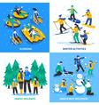 Winter Activity 2x2 Design Concept vector image vector image