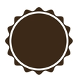 brown circular badge icon vector image