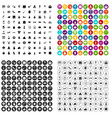 100 holidays icons set variant vector image vector image