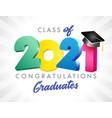 2021 colored graduates class 3d vector image vector image