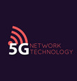 5g icon and symbol 5th generation wireless vector image