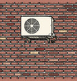air conditioning on outside brick wall the vector image