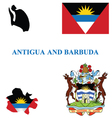 Antigua and Barbuda Flag vector image