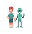 artificial intelligence image of boy and his vector image