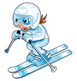 Baby Skier vector image vector image