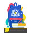 back to school flyer design with school supplies vector image
