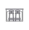 bar counter line icon concept bar counter vector image vector image