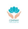 beauty care logo template spa salon icon vector image vector image