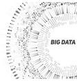 big data circular grayscale vector image vector image