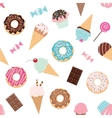 Birthday seamless pattern with sweets vector image vector image