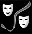 black and white theater masks vector image