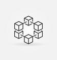 blockchain line concept icon or logo vector image vector image