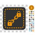blockchain wallet icon with bonus vector image