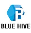 Blue Hive logo vector image