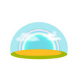 blue sky with rainbow isolated icon vector image vector image