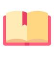 book with ribbon bookmark printed copybook vector image vector image