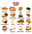 british food cuisine vector image vector image