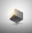 Broken cube vector image