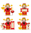 chinese god of wealth chinese new year 2018 vector image vector image