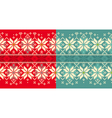 Christmas knitted seamless ornament vector image vector image