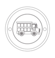 circular contour of silhouette with dump truck vector image